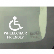 1 x Wheelchair Friendly Window Sticker for Car,Van,Truck,Vehicle.Disability,Mobility Self Adhesive Vinyl Sign Handicapped Logo
